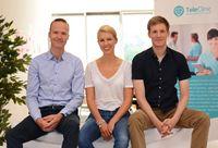 """Die Gründer der TeleClinic die Online Videosprechstunden anbietet. (von links) Prof. Dr. Reinhardt Meier, Katharina Jünger, Patrick Palacin / Bild: """"obs/TeleClinic"""""""