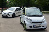 Opel Ampera und smart-ed 2012