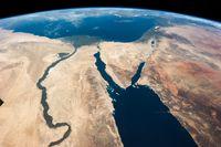 Der nahe Osten von Oben bedrachtet (Symbolbild)
