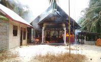 """Brennende Kirche in Aceh Singkil, Indonesien, Oktober 2015. Bild: """"obs/Open Doors Deutschland e.V."""""""