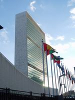 Das Sekretariatshochhaus ist das Markenzeichen des UN-Hauptquartiers.
