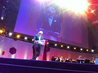 Dieter Meier an der Verleihung des Schweizer Filmpreises 2012