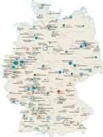 Auflagenentwicklung in der Tagespresse 2001-2012 Quelle: Karte: IfL 2013 (idw)