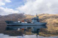 """Der Tender """"Donau"""" - Nicht nur eine schwimmende Tankstelle, sondern ein logistischer Allrounder, wenn es um Versorgung der Einheiten in See geht."""