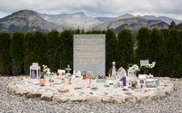 Gedenkstätte in Le Vernet für die Absturz-Opfer des Germanwing-Fluges 4U 9525,