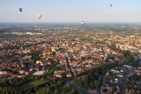 Luftaufnahme der Innenstadt von Münster, 2009