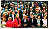 Die zukünftigen SPD-Bundestagsabgeordneten ohne Abstand, Maske o.ä. am 29.09.2021