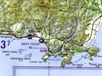 Lage von Sanya im äußersten Süden der chinesischen Insel Hainan. Bild: wikipedia.org/