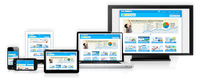 Anzeige einer responsiven Website auf verschiedenen Endgeräten