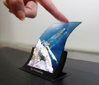 Krumme Sache: Solche Displays gehen bei LG in Serie. Bild: lgdisplay.com