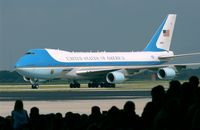 Air Force One auf dem Rollfeld