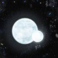 Künstlerische Darstellung des pulsierenden Doppelsterns J0247-25