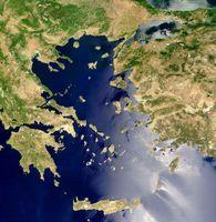 Satellitenbild der Ägäis
