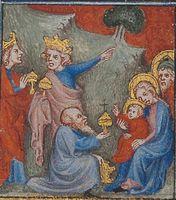 Bible historiale, Anbetung der Könige, Bild: Martina Sitt, Universität Kassel.