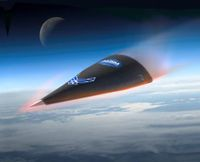 Illustration des Hypersonic Test Vehicle (HTV) 2 beim Wiedereintritt