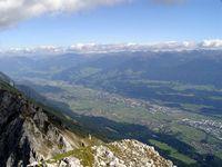 Das Inntal vom Hafelekar bei Innsbruck
