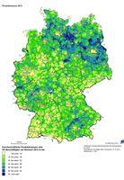 Pendeldistanzen 2013 Quelle: BBSR (idw)