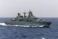 Fregatte Mecklenburg-Vorpommern in Fahrt