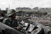Wie früher? Deutscher Soldat im Spätherbst 1942 in Russland.