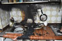 Brand in Küchenzeile Bild: Polizei