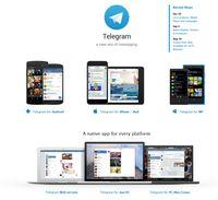 """Bild: Screenshot der Webseite """"telegram.org"""""""