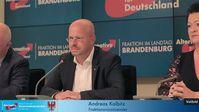Andreas Kalbitz MdL und Mitglied im AfD-Bundesvorstand, Birgit Bessin MdL, stellvertretende Fraktionsvorsitzende der AfD-Landtagsfraktion Brandenburg (2018)