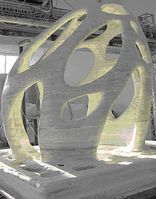 Radiolaria: Skulptur aus dem Drucker von D-Shape. Bild: D-Shape