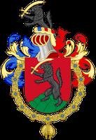 Wappen von  Nicolas Sarkozy als Ritter des Ordens vom Goldenen Vlies (Spanien)