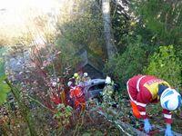 Rettungskräfte an der Unfallstelle Bild: Polizei