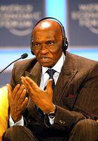 Abdoulaye Wade beim Weltwirtschaftsform 2002 in Davos Bild:   World Economic Forum / de.wikipedia.org