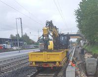 Beteiligter Schienenbagger im Bahnhof Borken; Bild: Bundespolizei Kassel