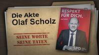 """Bild: Screenshot Video: """" Die Akte Olaf Scholz: seine Worte – seine Taten"""" (www.kla.tv/19846) / Eigenes Werk"""