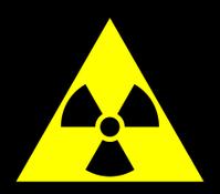 Symbol: Warnung vor radioaktiven Stoffen oder ionisierenden Strahlen