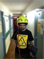 Helm-Test: Orientierungshilfe für Einsatzkräfte. Bild: University of Sheffield