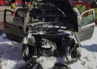Ausgebrannter PKW Bild: Polizei