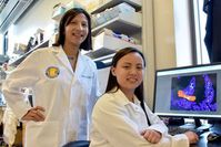 Meera G. Nair (l.) und Jessica Jang im Medizinlabor. Bild: ucr.edu, Ross French