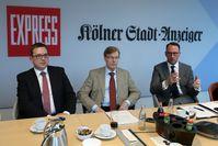 Markus Hartmann, Oberstaatsanwalt und Leiter der ZAC NRW, Peter Biesenbach, Minister der Justiz des Landes Nordrhein-Westfalen, und Dr. Tobias Schmid, Direktor der Landesanstalt für Medien NRW, (v.l.n.r.)
