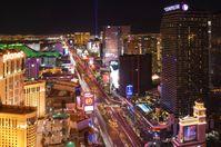 Der Las Vegas Strip bei Nacht …