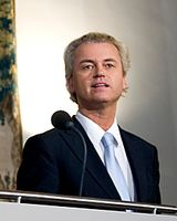 Geert Wilders bei der Verlesung der Regierungserklärung im September 2010