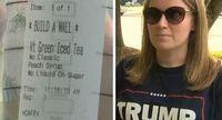 Aufdruck von Starbucks empört Trump-Unterstützerin. Bild: fox46charlotte.com