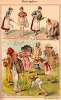 Kneippkur, Illustration in einem 1894 erschienenen Buch