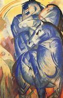 Der Turm der blauen Pferde Franz Marc, 1913