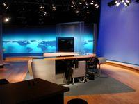 Altes Sendestudio der Tagesthemen im ARD-Studio 1 in Hamburg-Lokstedt bis Oktober 2008