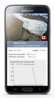 Die «wgms Glacier App» liefert Daten zu Grösse, Höhenerstreckung und Eisverlust von Gletschern. Quelle: World Glacier Monitoring Service (idw)