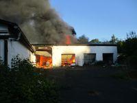 Feuer in Garagentrakt Bild: Polizei
