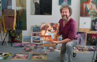 Maler Torsten Wolber in seinem Atelier in Köln-Deutz Bild: FINNERN GmbH & CO. KG Fotograf: Harald Stoffels