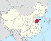 Die Provinz Shandong in China