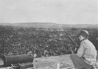 Kriegsgefangene in den Rheinwiesenlagern - viele starben dort. Vermist werden heute noch viele...