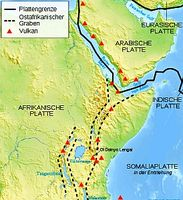 Ostafrika wird bald zum eigenen Kontinent. Bild: Wikimedia Commons