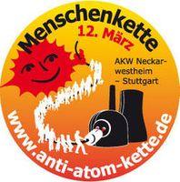 Weitere Informationen zur großen Menschenkette zwischen dem AKW Neckarwestheim und Stuttgart am 12. März gibt es hier: www.anti-atom-kette.de